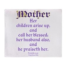 Mothers Day Bible Quote Throw Blanket