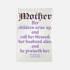 Mothers Day Bible Quote Rectangle Magnet (100 pack