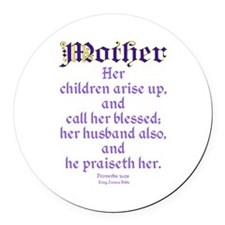 Mothers Day Bible Quote Round Car Magnet