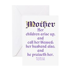 Mothers Day Bible Quote Greeting Card