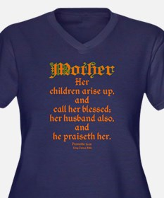 Bible Passage for Mothers Women's Plus Size V-Neck