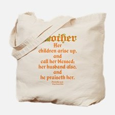 Bible Passage for Mothers Tote Bag