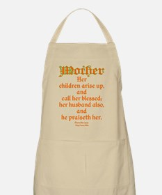 Bible Passage for Mothers Apron