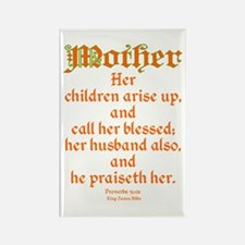 Bible Passage for Mothers Rectangle Magnet