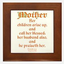 Bible Passage for Mothers Framed Tile