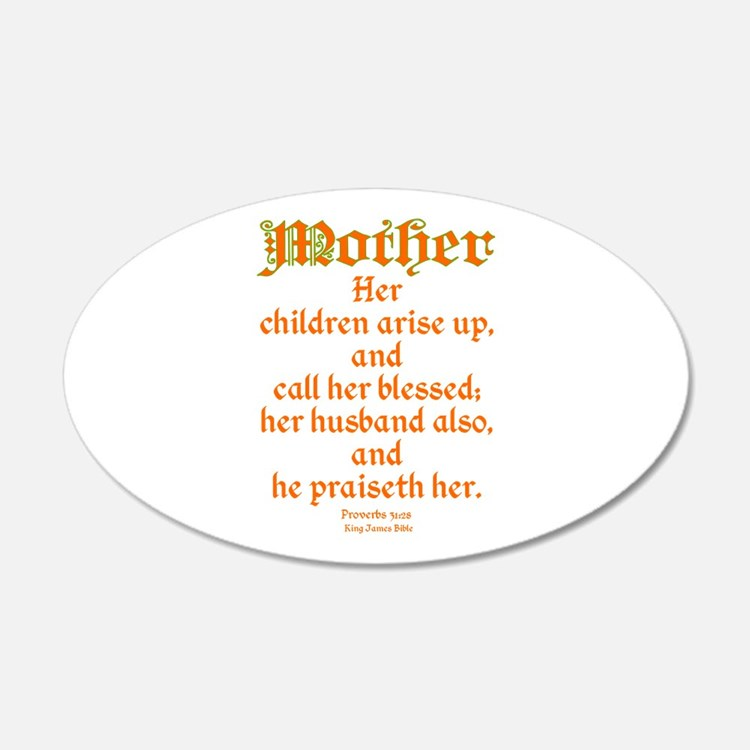 Bible Passage for Mothers Wall Decal