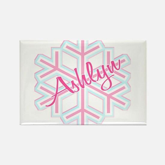 Ashlyn Snowflake Personalized Rectangle Magnet