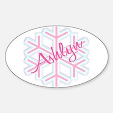 Ashlyn Snowflake Personalized Oval Decal