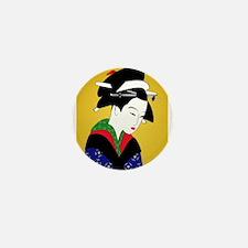 Geisha Girl Mini Button