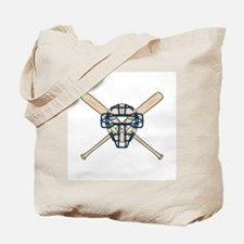 Catcher's Mask and Bats Tote Bag
