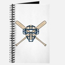 Catcher's Mask and Bats Journal
