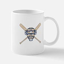 Catcher's Mask and Bats Mug
