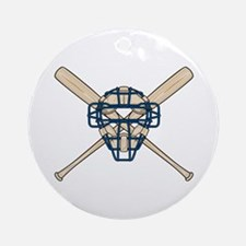 Catcher's Mask and Bats Ornament (Round)