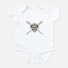 Catcher's Mask and Bats Infant Bodysuit