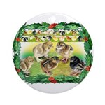 Chicks For Christmas! Ornament (Round)