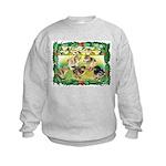 Chicks For Christmas! Kids Sweatshirt