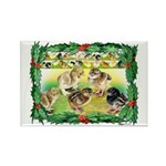 Chicks For Christmas! Rectangle Magnet (10 pack)