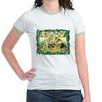 Chicks For Christmas! Jr. Ringer T-Shirt