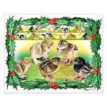 Chicks For Christmas! Small Poster