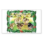 Chicks For Christmas! Rectangle Sticker