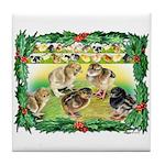 Chicks For Christmas! Tile Coaster
