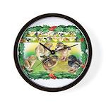 Chicks For Christmas! Wall Clock