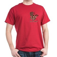 Red Tailed Boa3 Cardinal T-shirt (pocket)