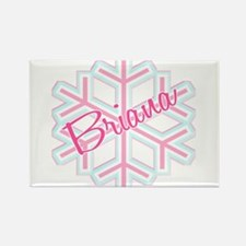 Briana Snowflake Personalized Rectangle Magnet