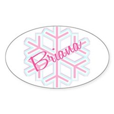 Briana Snowflake Personalized Oval Decal