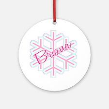 Briana Snowflake Personalized Ornament (Round)