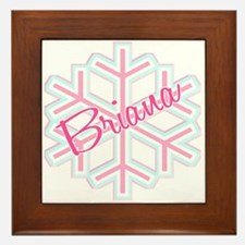 Briana Snowflake Personalized Framed Tile