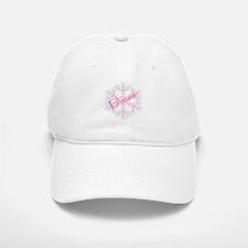 Briana Snowflake Personalized Baseball Baseball Cap