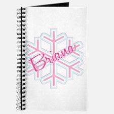 Briana Snowflake Personalized Journal