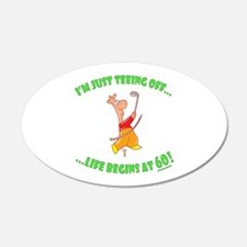 Teeing Off At 60 Wall Decal