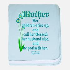 Proverbs 31:28 Flower baby blanket