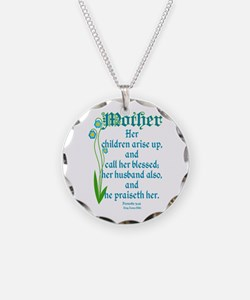 Proverbs 31:28 Flower Necklace