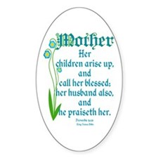 Proverbs 31:28 Flower Decal
