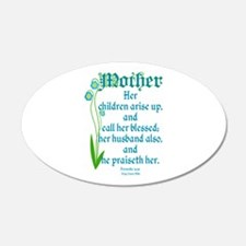 Proverbs 31:28 Flower Wall Decal
