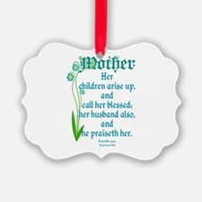 Proverbs 31:28 Flower Ornament