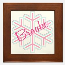 Brooke Snowflake Personalized Framed Tile