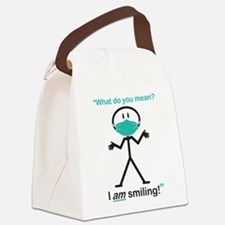 I AM Smiling! Canvas Lunch Bag