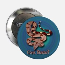 Red Tailed Boa3 Button (Blue-Green Background)