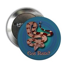 Red Tailed Boa3 Button (Blue-Green) (10 pack)