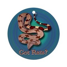 Red Tailed Boa3 Ornament (Blue-Green Backgr.)