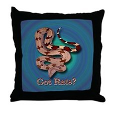 Red Tailed Boa3 Pillow (Blue-Green Backgrd)