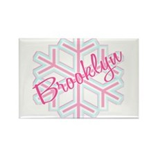 Brooklyn Snowflake Personalized Rectangle Magnet