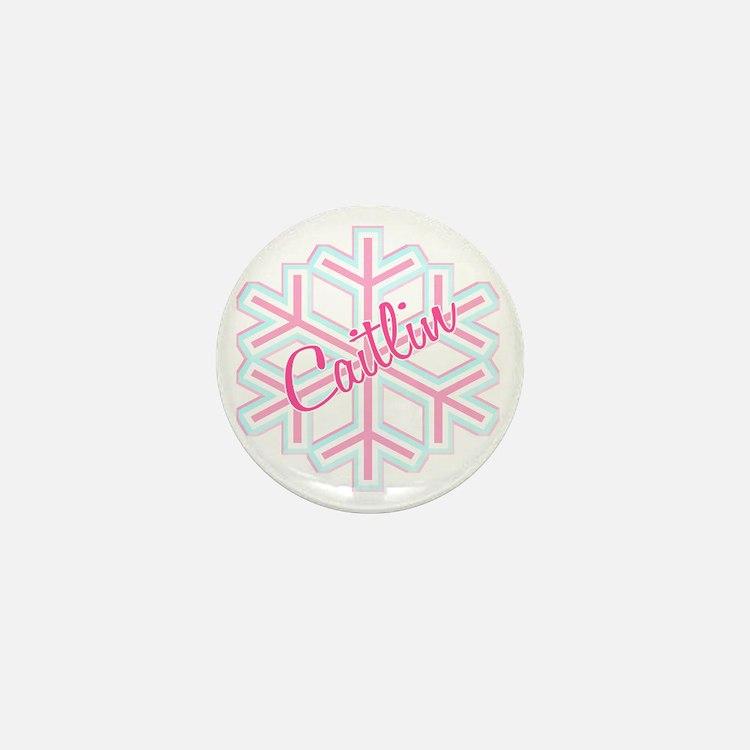 Caitlin Snowflake Personalized Mini Button