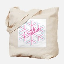 Caitlin Snowflake Personalized Tote Bag
