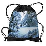 early snowCALENDAR - WALL 75_H_F.pn Drawstring Bag