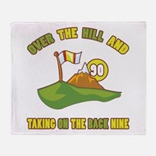 Golfing Humor For 90th Birthday Throw Blanket
